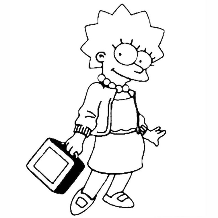 dessin à colorier famille simpson gratuit