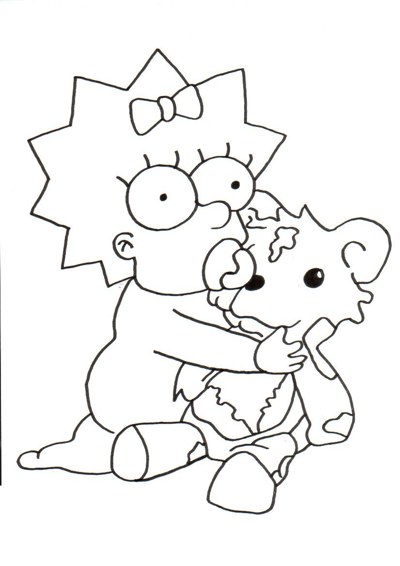 dessin à colorier simpson.fr