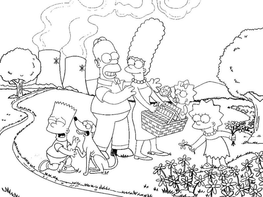Coloriage Simpson La Famille