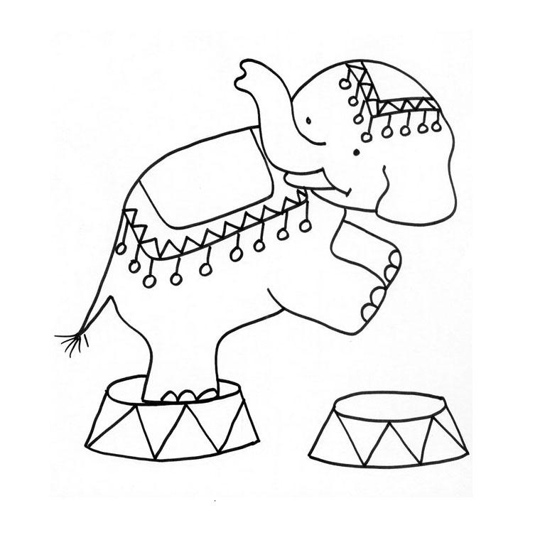 20 dessins de coloriage singe cirque imprimer - Coloriage cirque maternelle ...