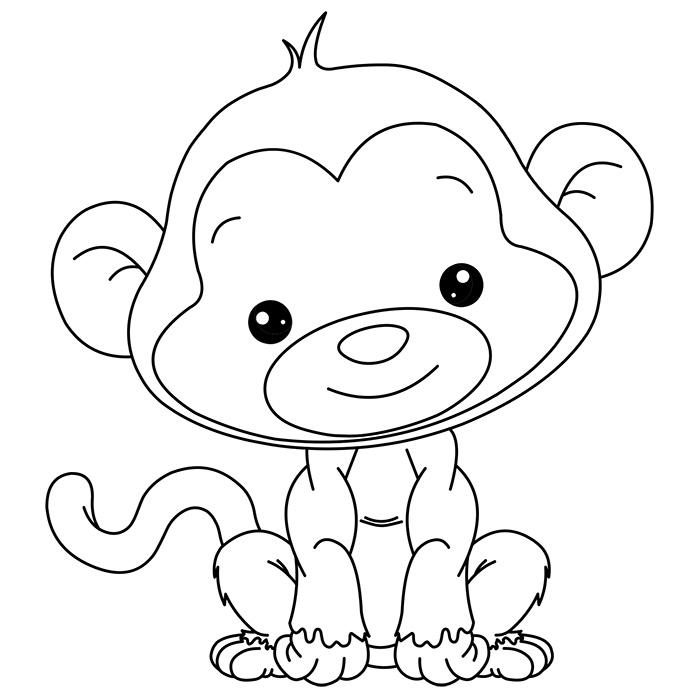 16 dessins de coloriage singe rigolo imprimer - Dessin elephant rigolo ...
