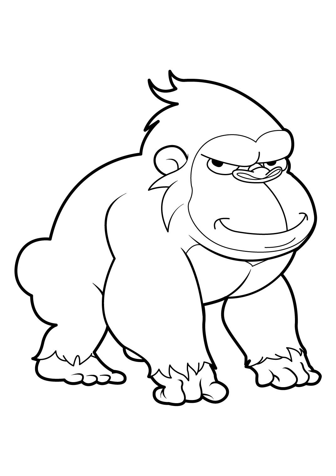 Coloriage un singe - Imprimer dessin ...