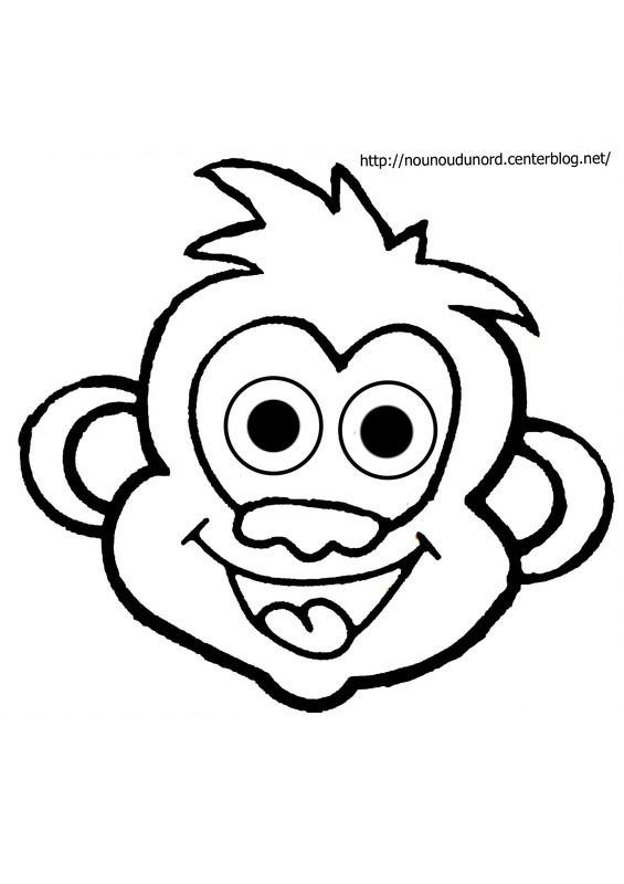 Coloriage singe gratuit - Singe a dessiner ...