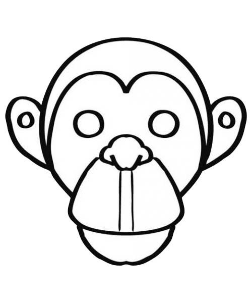 coloriage ã dessiner d u0027un singe a imprimer