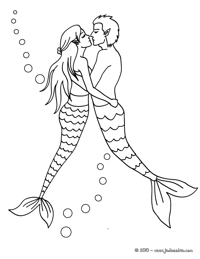 Dessin colorier merliah sirene a imprimer - Coloriage personnage ...