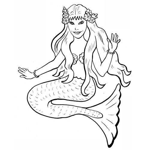 coloriage à dessiner sirene manga
