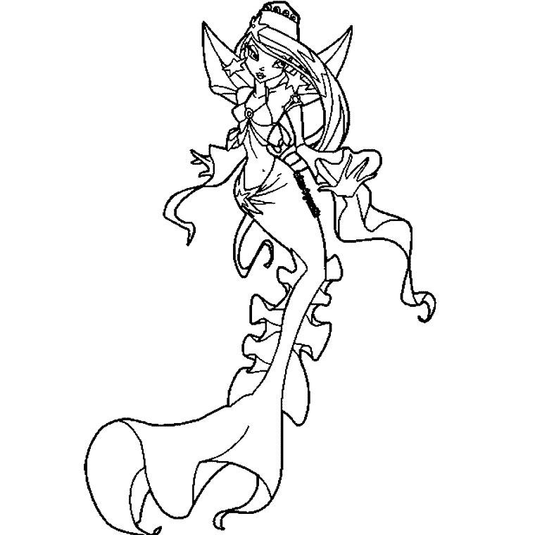 dessin à colorier sirene hello kitty