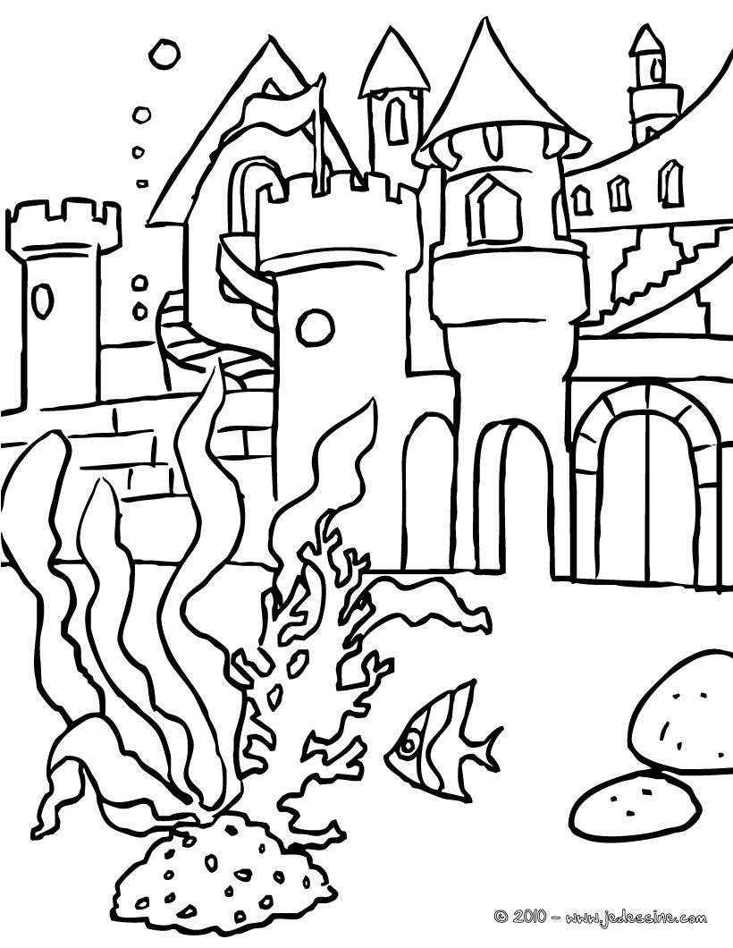 dessin à colorier barbie sirene jeux