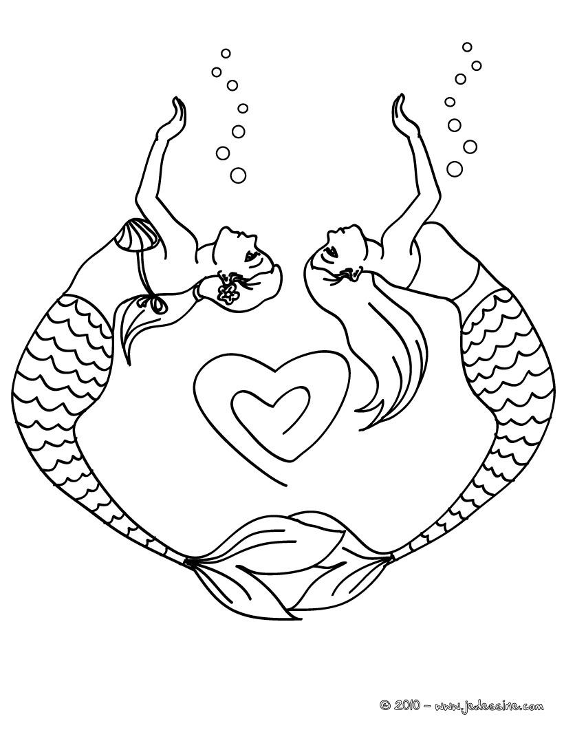 dessin sirene en ligne