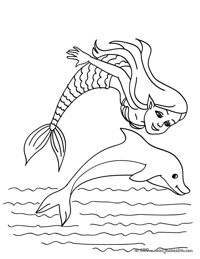 dessin à colorier sirene