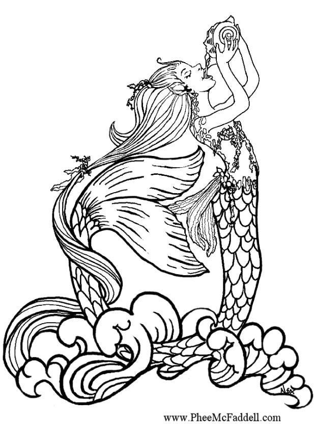 dessin à colorier à imprimer sirene