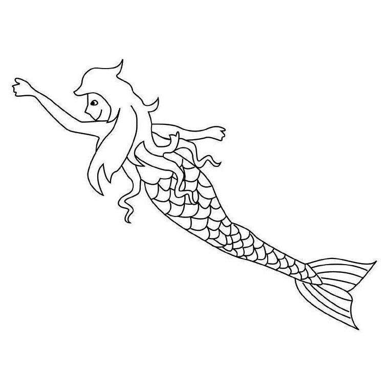 dessin sirene h2o