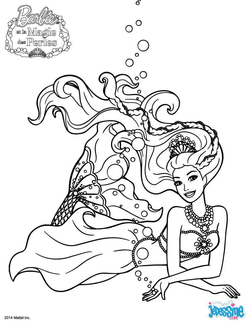17 dessins de coloriage sir ne barbie imprimer - Dessin de sirene facile ...
