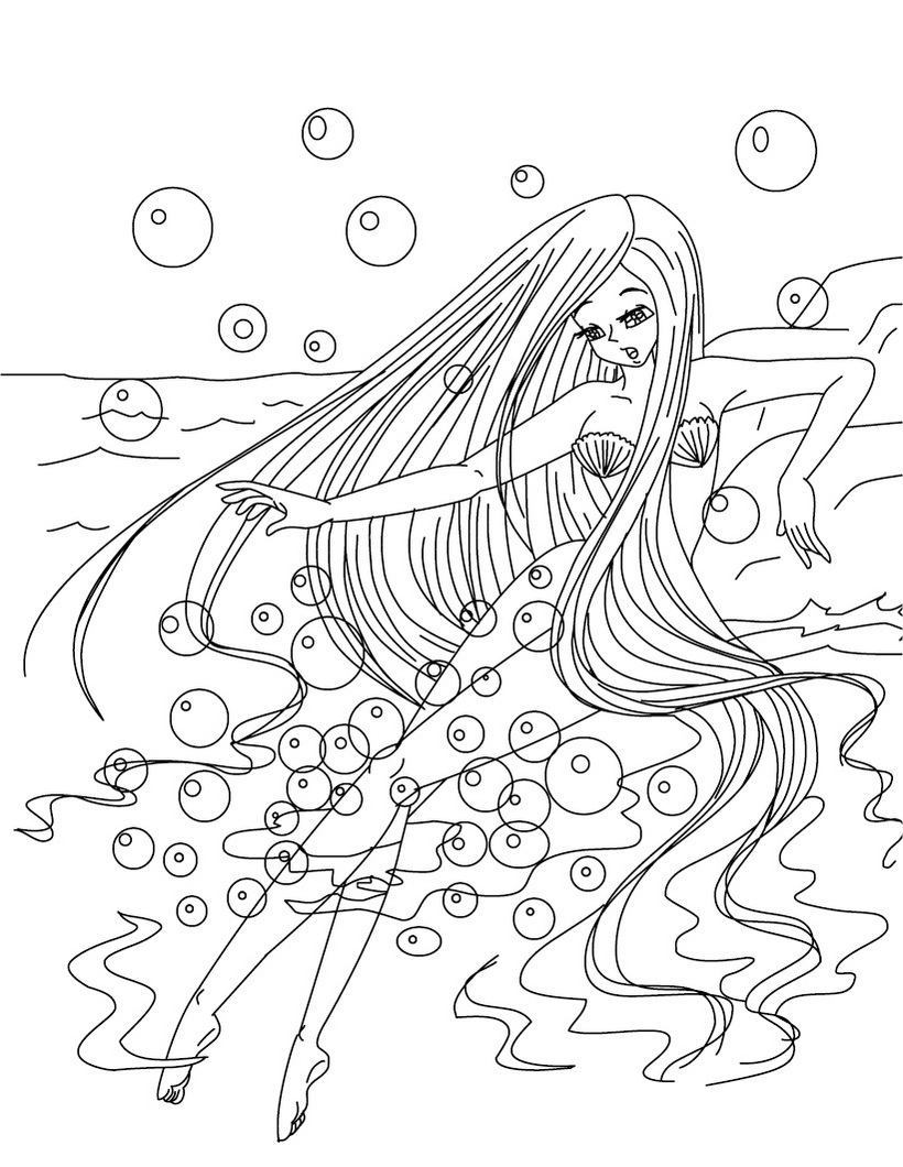 17 dessins de coloriage sir ne barbie imprimer - Barbie sirene coloriage ...