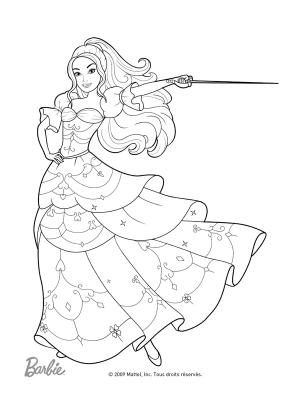 17 dessins de coloriage sir ne barbie imprimer - Barbie les 3 mousquetaires ...