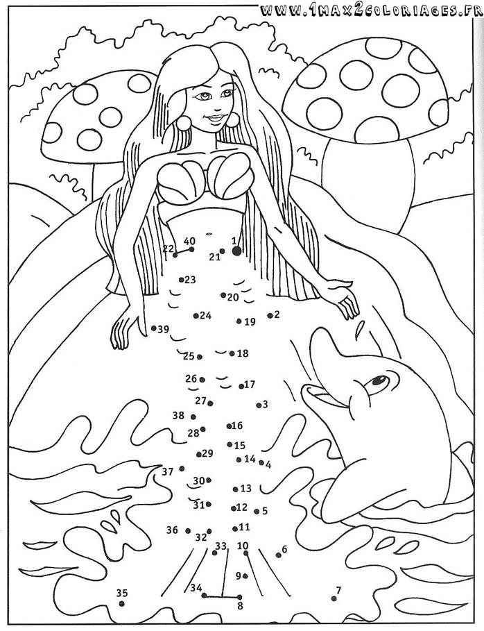 18 dessins de coloriage sir ne et dauphin imprimer - Dessin de sirene facile ...