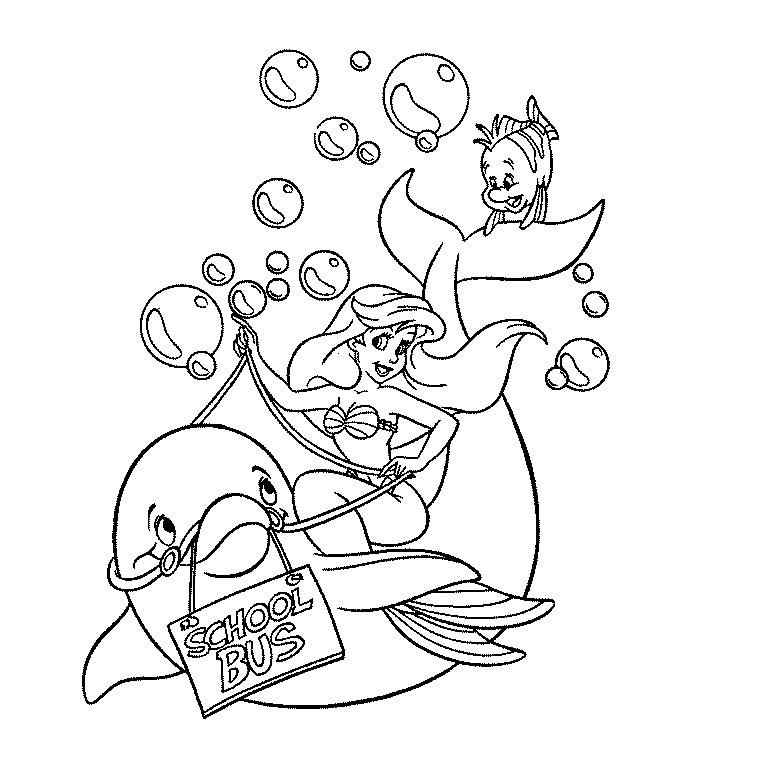 18 dessins de coloriage sir ne et dauphin imprimer - Coloriage dora sirene ...