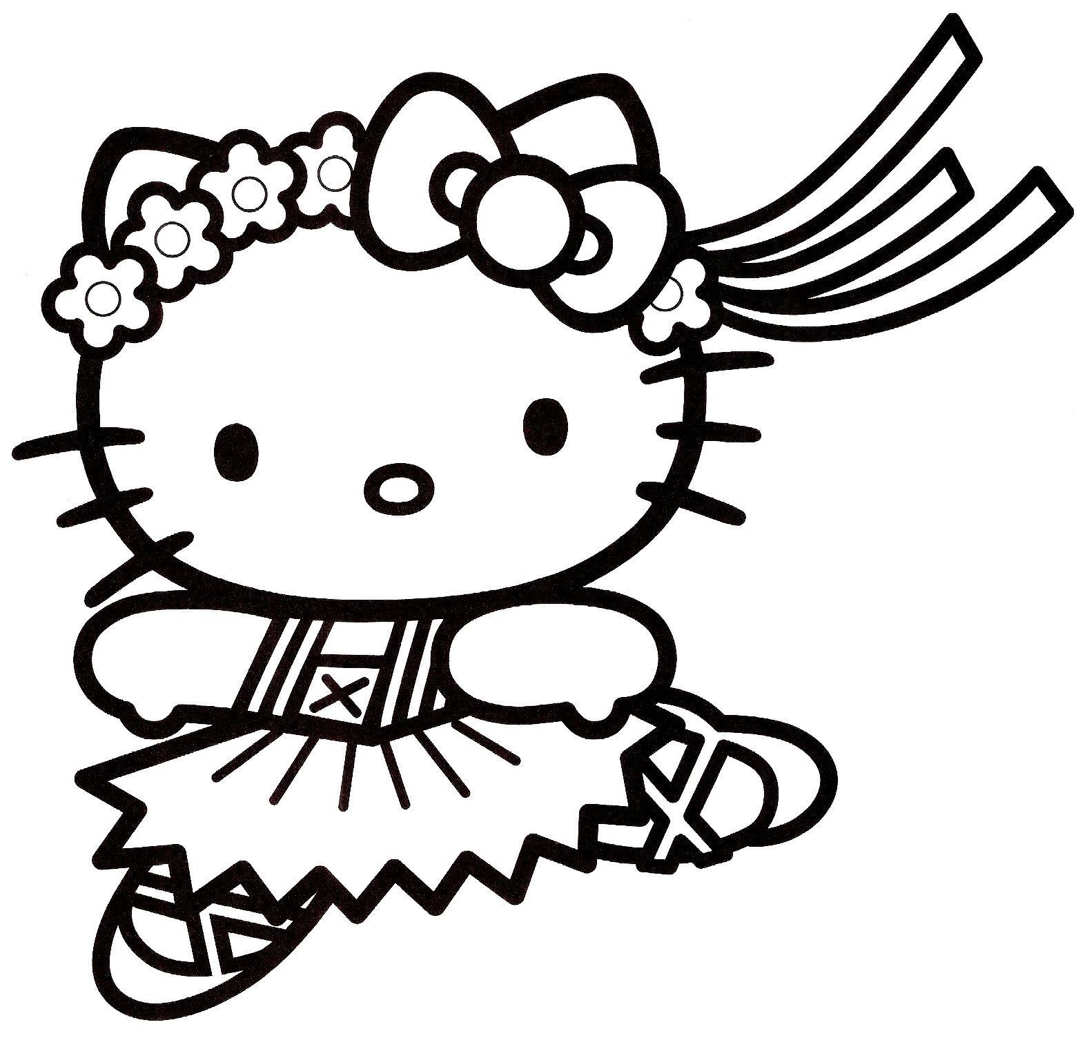 19 dessins de coloriage sir ne hello kitty imprimer - Hello kitty sirene ...