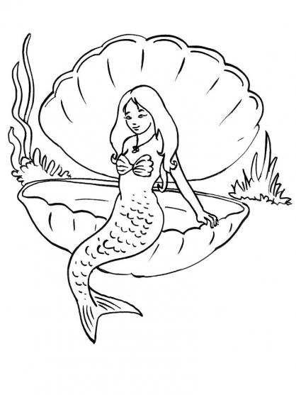 jeux dessin à colorier sirene gratuit