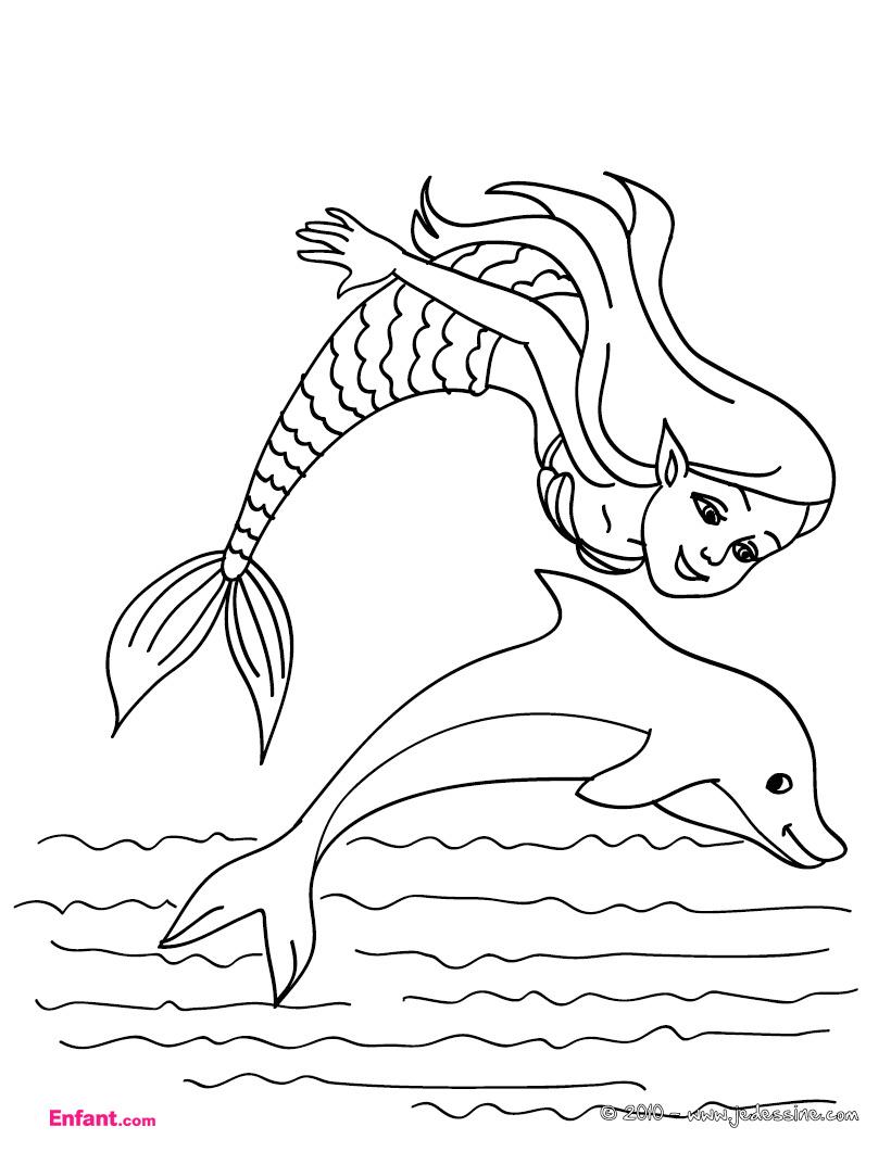 colorier une sirène en ligne