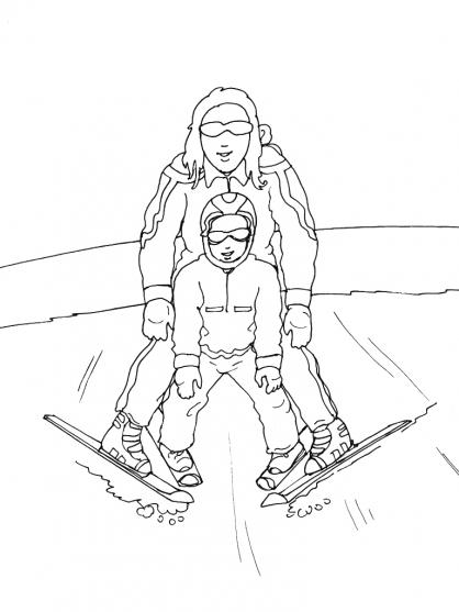 coloriage station ski
