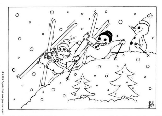 coloriage skieuse