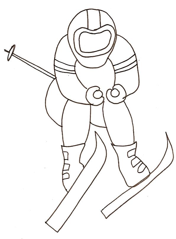 coloriage vacances au ski
