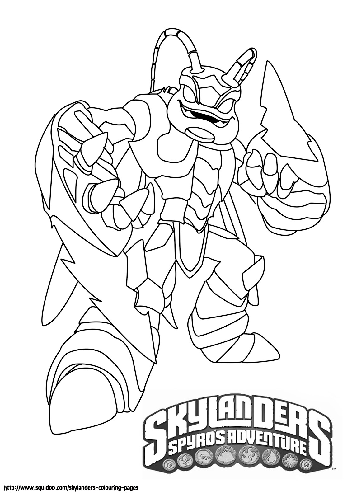 coloriage skylanders giants thumpback a imprimer