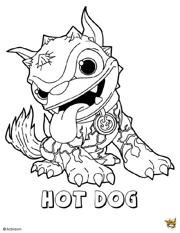 17 dessins de coloriage skylanders hot dog imprimer - Dessin de skylanders ...