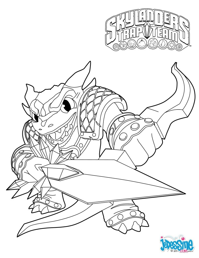 funnybone skylander coloring pages - photo#30