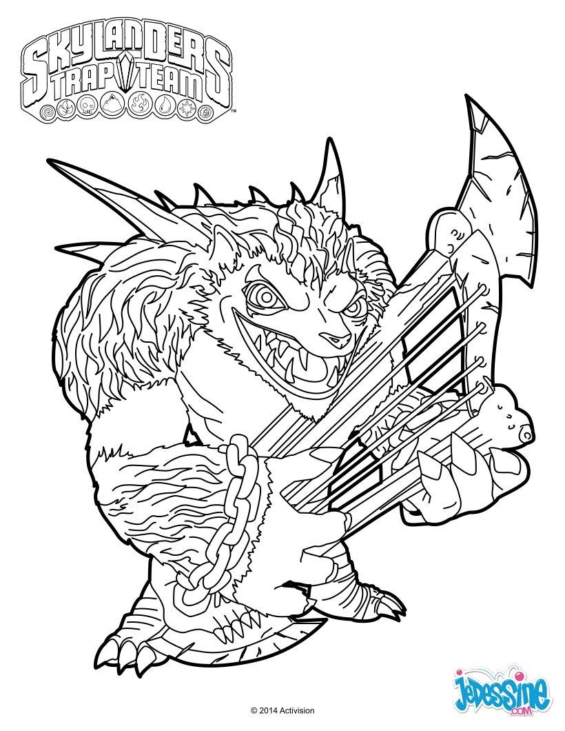18 dessins de coloriage skylanders superchargers imprimer for Skylanders imaginators coloring pages