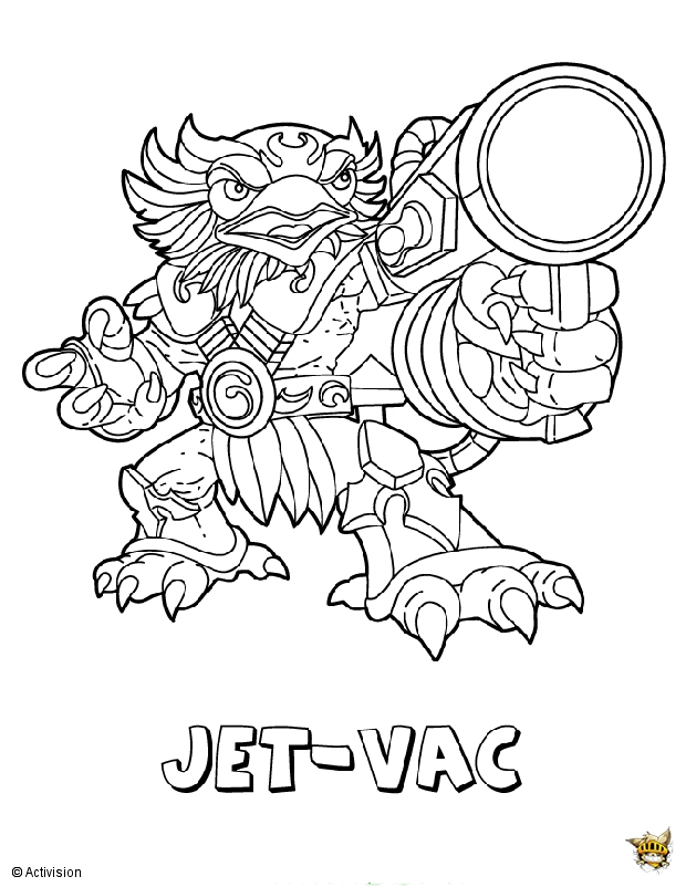 coloriage skylanders trap team feu