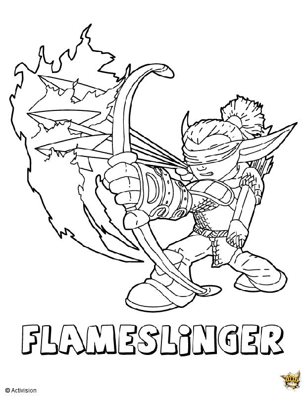 19 dessins de coloriage Skylanders Trap Team Feu à imprimer