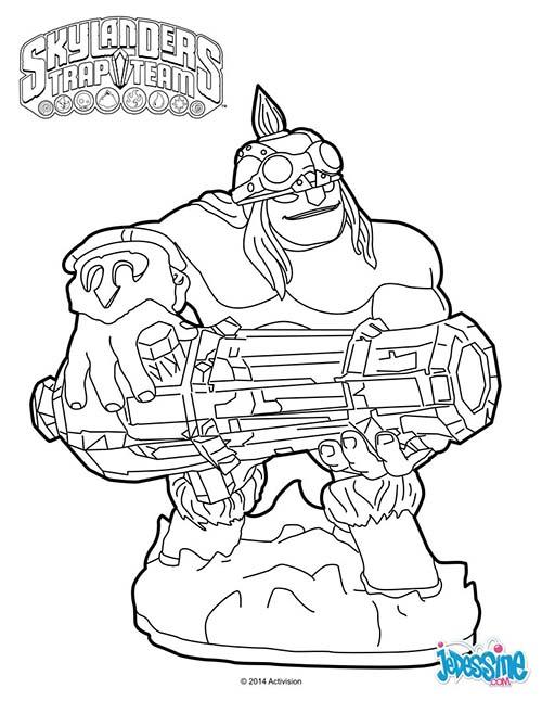 7 dessins de coloriage skylanders trap team imprimer - Dessin de skylanders ...