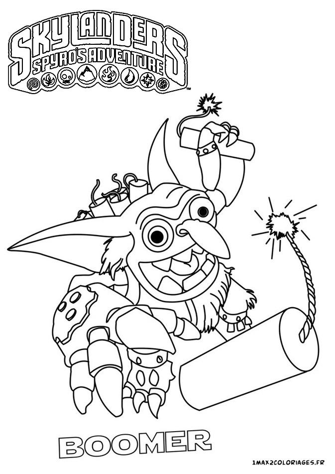 Skylanders coloriage robot - Dessin de skylanders ...