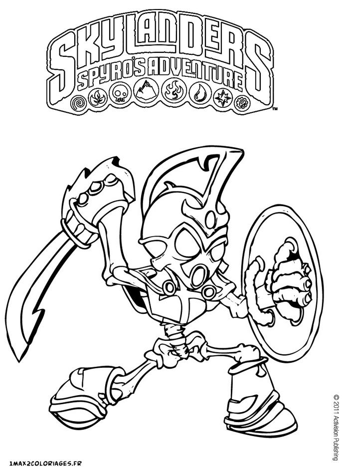 dessin à colorier skylanders giants ninjini