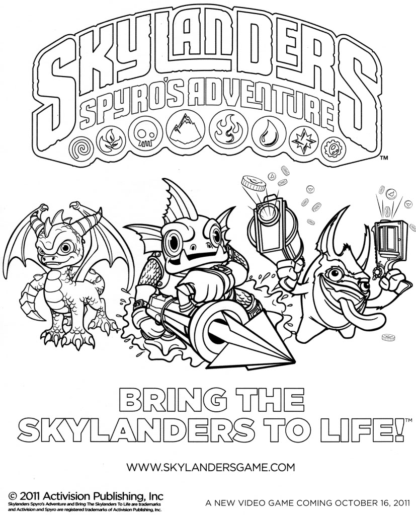 dessin � colorier skylanders hugo l'escargot