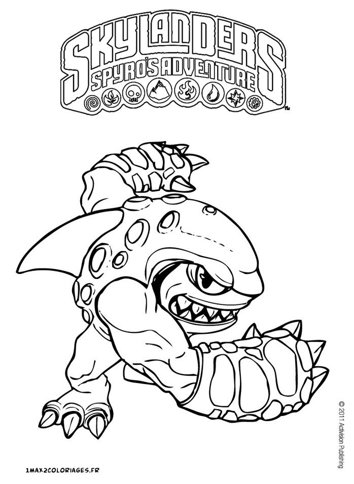 dessin à colorier skylanders tree rex
