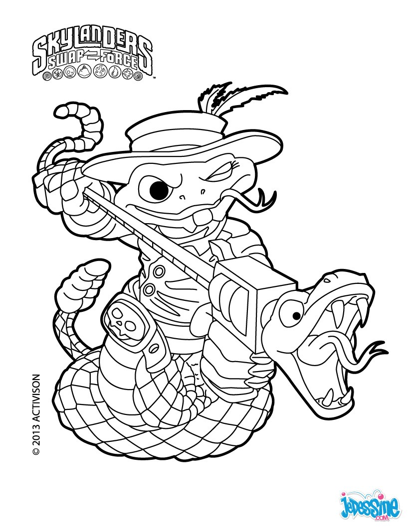 coloriage à imprimer skylanders hot head