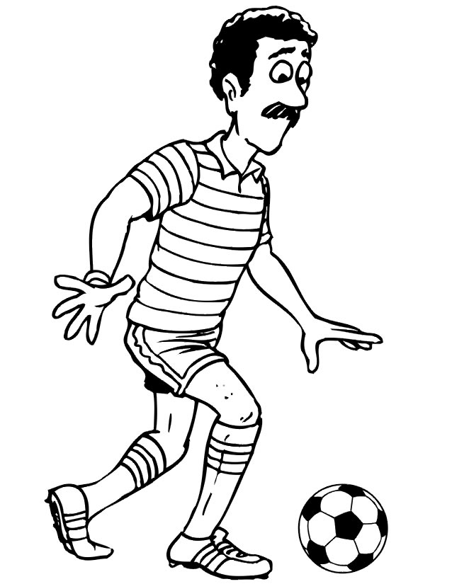 coloriage de soccer