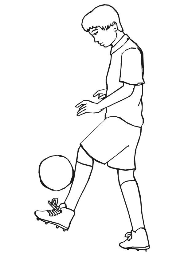 jeux de coloriage à dessiner de soccer