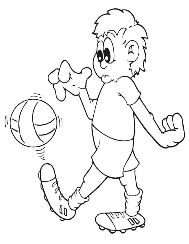 dessin soccer imprimer