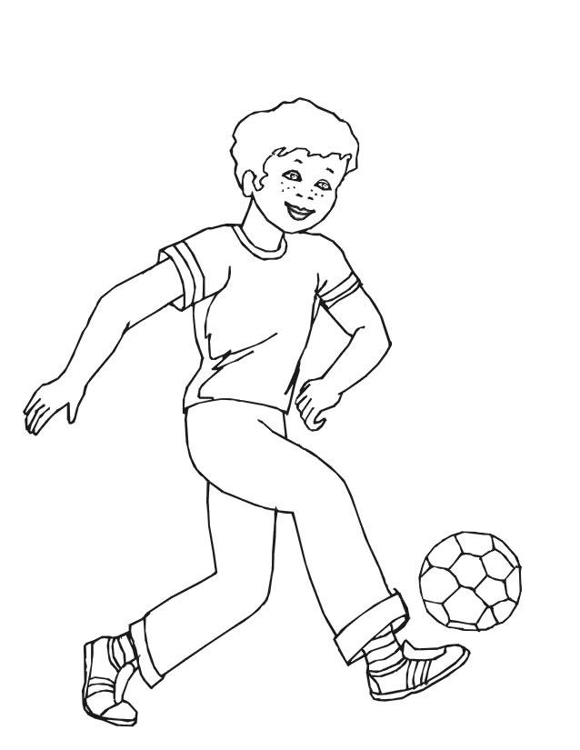 dessin soccer coloriage