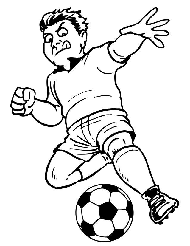 coloriage soccer fille
