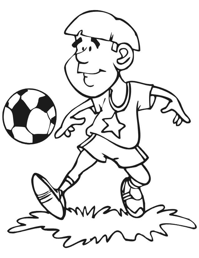 dessin à colorier ballon soccer