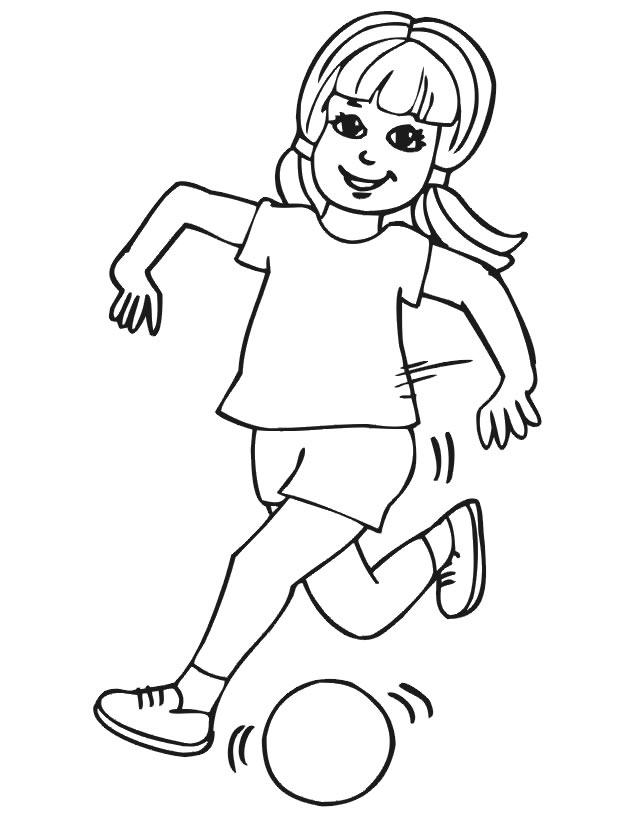 coloriage à dessiner ballon soccer