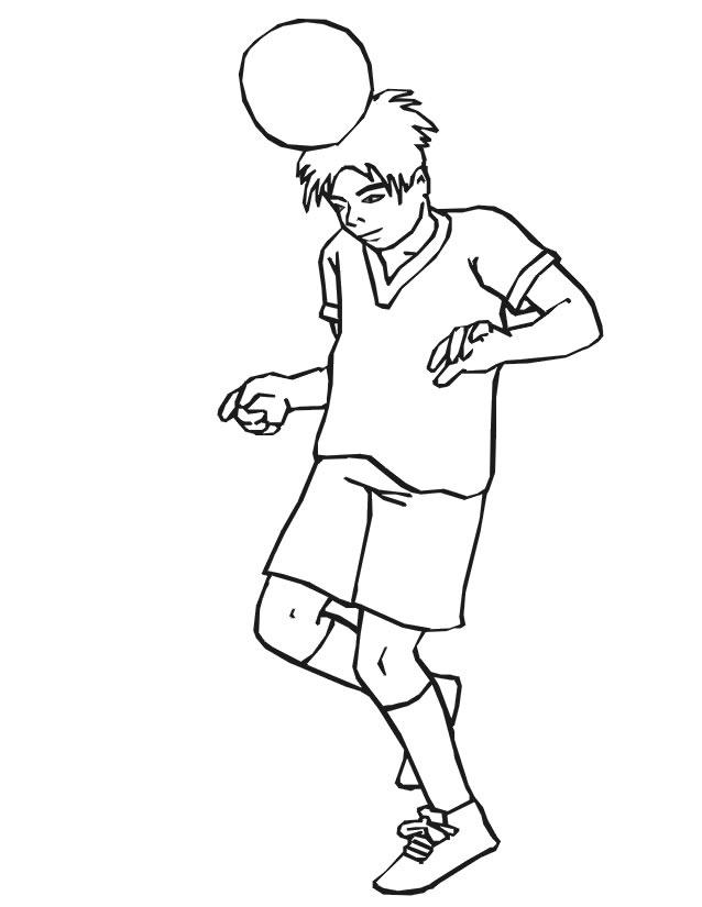 dessin ballon soccer