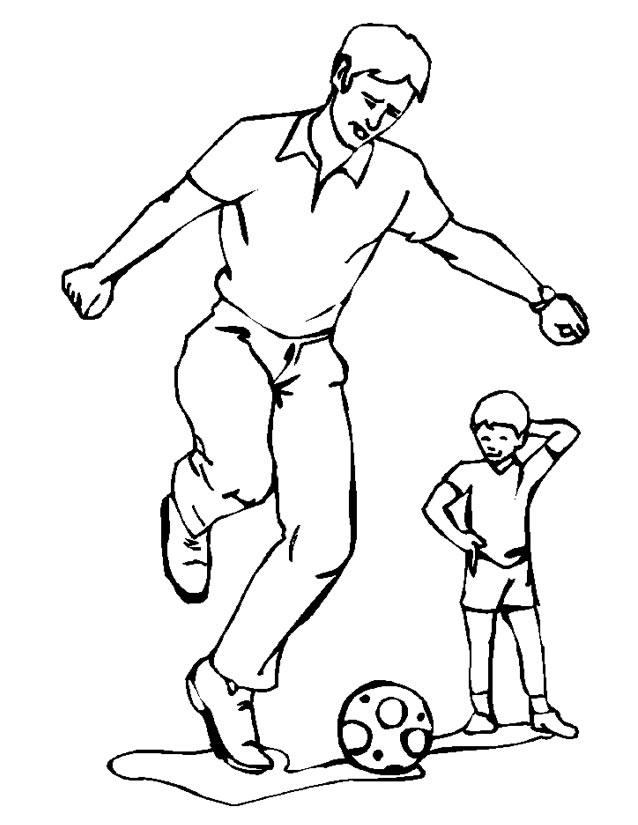 dessin à colorier soccer imprimer