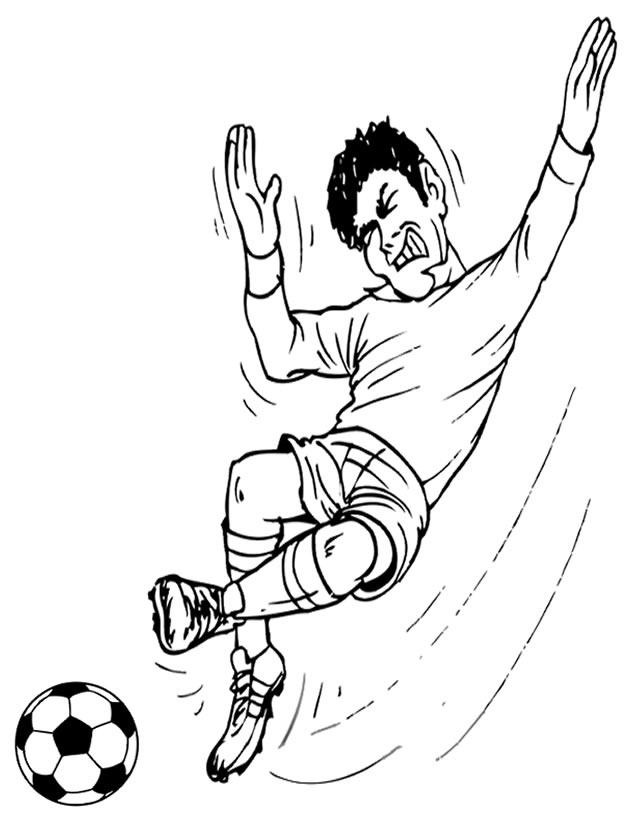 coloriage soccer imprimer