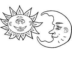 95 dessins de coloriage soleil avec lunettes imprimer - Dessin de lune et soleil ...